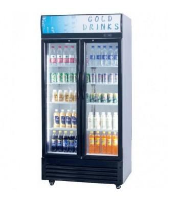 Armoire Réfrigérée 2 Portes Vitrées Battantes - 610 L