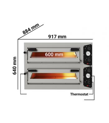 Four à Pizza Ø 30 cm - Electrique - Matériel cuisine pro