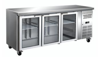 Tables avec portes vitrées - Equipement de cuisine professionnelle