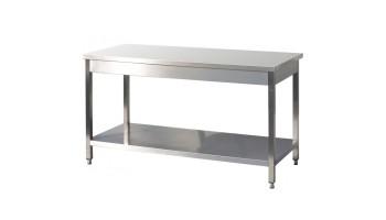 Table Inox: Profondeur 600mm - Equipement de cuisine professionnelle